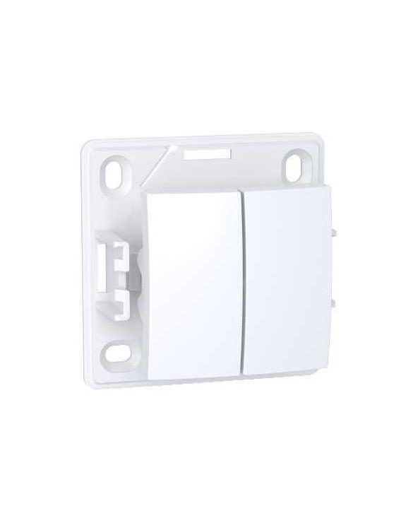 Alréa,Double va-et-vient,blanc polaire SCHALB61056P Prises et interrupteurs