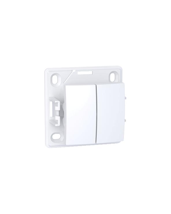 Alréa,Double poussoir O F,blanc polaire SCHALB61083P Prises et interrupteurs