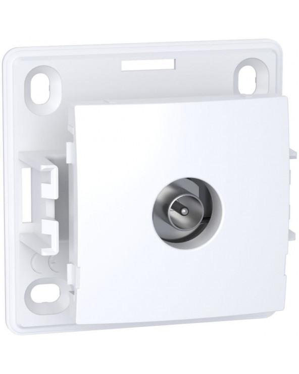 Alréa,Prise TV simple mâle blindée,1 sortie,blanc polaire SCHALB61311P Prises et interrupteurs
