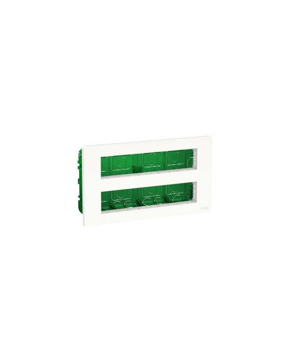 Unica - boîte de concentration encastrée complète - 2 rang de 10 mod - blc anti SCHNU171020 Prises et interrupteurs