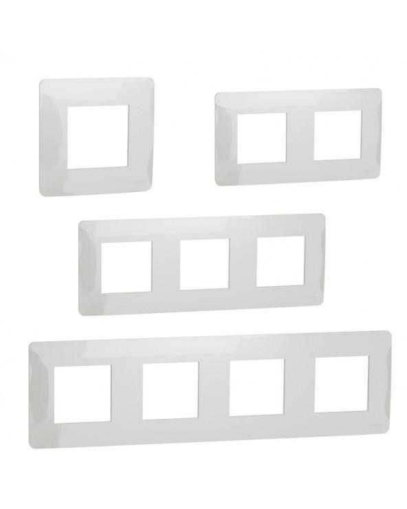 Unica Studio - plaque de finition - Blanc - 1 à 4 postes SCHNU200218 Prises et interrupteurs