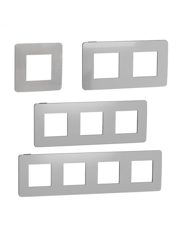 Unica Studio - plaque de finition - Alu - 1 poste SCHNU200230 Prises et interrupteurs