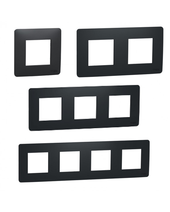 Unica Studio - plaque de finition - Anthracite - 1 à 4 postes SCHNU200254 Prises et interrupteurs